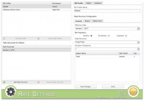 Screenshot of MyEyedro Client - Rate Settings