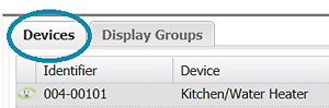 Devices Tab