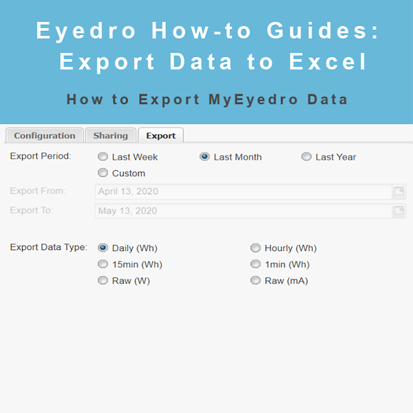 How to Export MyEyedro Hourly Data
